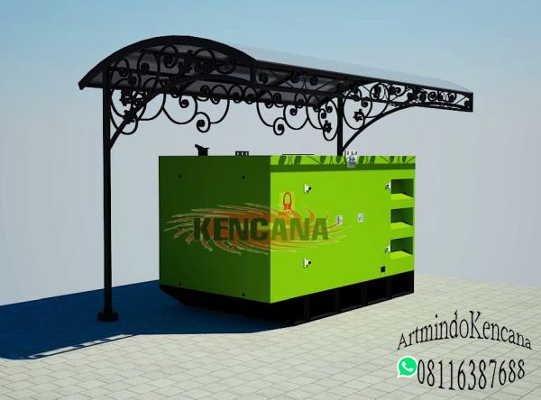 Desain Kanopi Genset Klasik KK-001