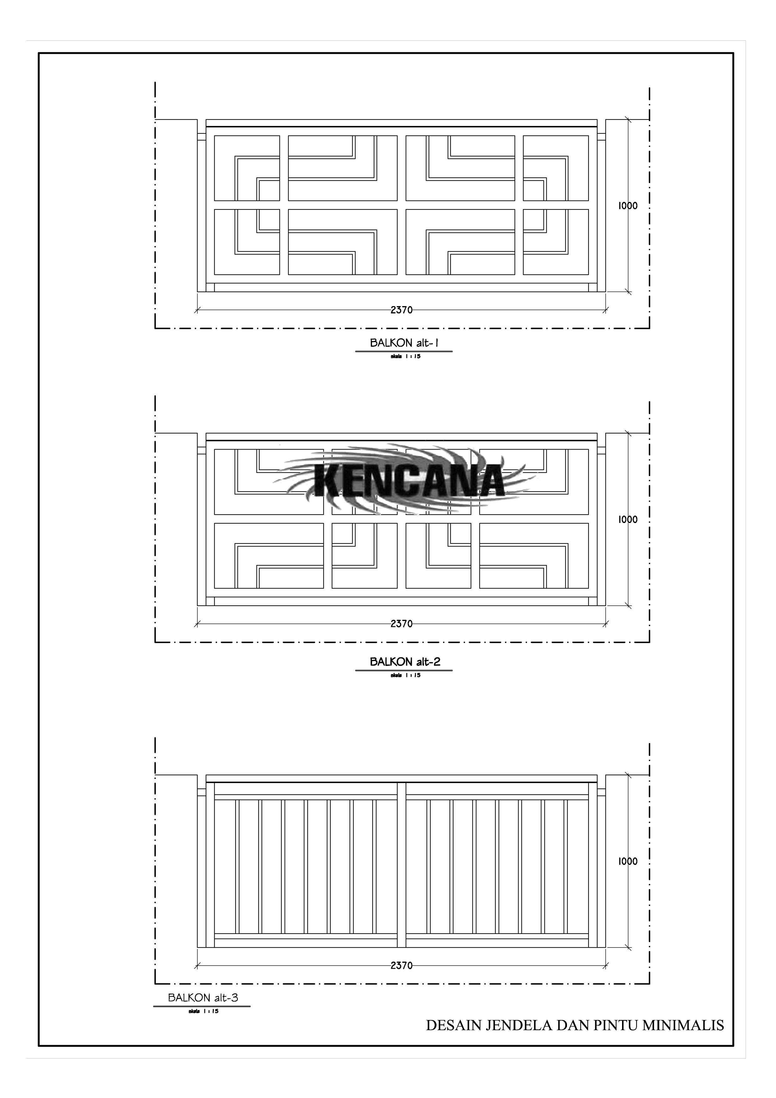 Desain Balkon Jendela dan pintu Minimalis 1
