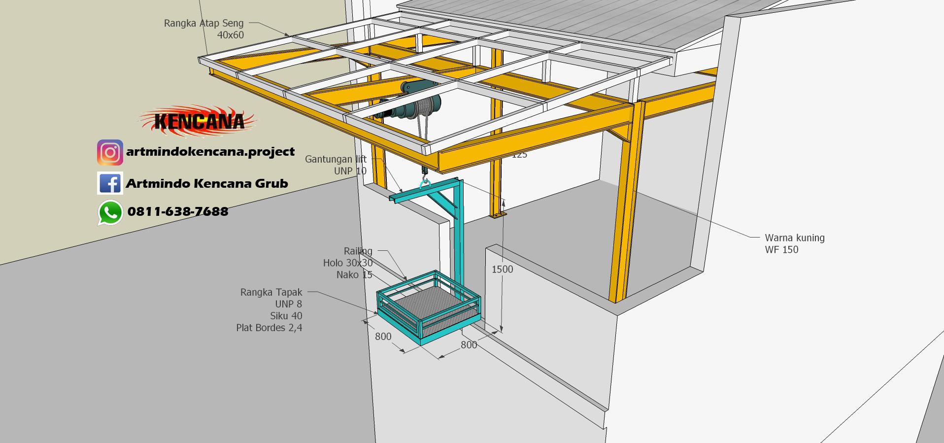 kontruksi Lift Barang 2
