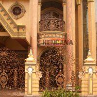 Pintu Pagar Besi Tempah Klasik Mewah