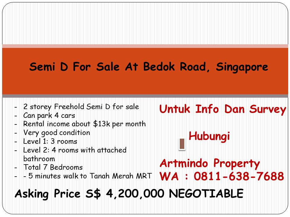 Asking Price S$ 4,200,000 NEGOTIABLE