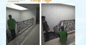 Proses Penyisipan Aksesoris Balkon dan Railling Tangga
