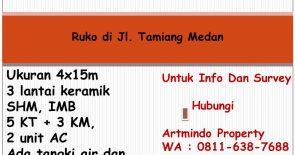 Ruko di Jl. Tamiang Medan
