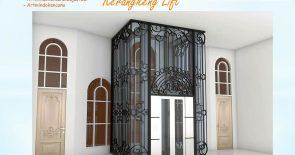 Balkon dan pegangan Tangga Wrought Iron